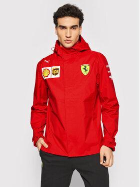 Puma Puma Kurtka przeciwdeszczowa Ferrari Team 763030 Czerwony Regular Fit