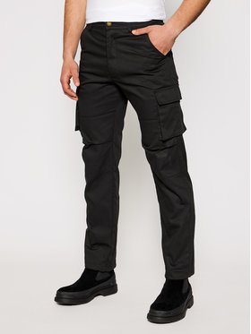 CATerpillar CATerpillar Kalhoty z materiálu 2810209 Černá Regular Fit