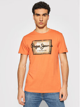 Pepe Jeans Pepe Jeans T-Shirt Wesley PM507876 Pomarańczowy Regular Fit