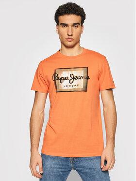Pepe Jeans Pepe Jeans Тишърт Wesley PM507876 Оранжев Regular Fit