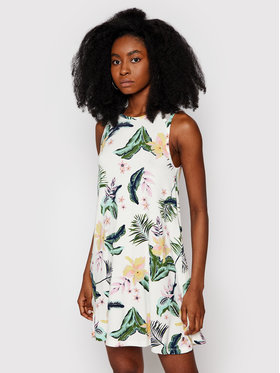 Roxy Roxy Φόρεμα καλοκαιρινό Paradise Isle ERJKD03355 Λευκό Regular Fit