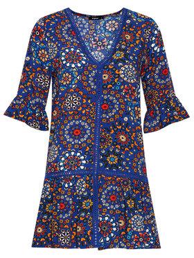 Desigual Desigual Letní šaty Java 21SWMW22 Modrá Regular Fit