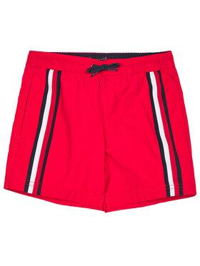 TOMMY HILFIGER TOMMY HILFIGER Szorty kąpielowe Medium Drawstring UB0UB00282 M Czerwony Regular Fit