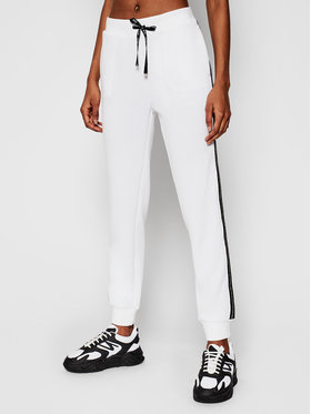 Liu Jo Sport Liu Jo Sport Pantalon jogging TA1089 J6178 Blanc Regular Fit