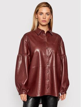 NA-KD NA-KD Koszula 1018-007353-0212-581 Brązowy Oversize
