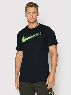 Nike Nike T-Shirt Nsw Swoosh DB6470 Czarny Standard Fit