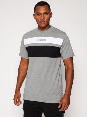 PROSTO. PROSTO. T-shirt KLASYK Gustafo 9183 Grigio Regular Fit