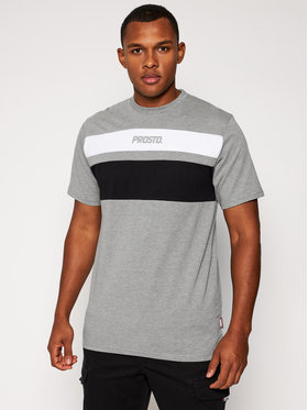 PROSTO. PROSTO. T-shirt KLASYK Gustafo 9183 Gris Regular Fit