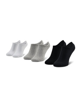 Reebok Reebok 3 pár unisex bokazokni Te Invisible Sock 3P GC8710 Fekete
