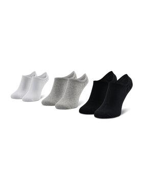 Reebok Reebok Set di 3 paia di calzini corti unisex Te Invisible Sock 3P GC8710 Nero