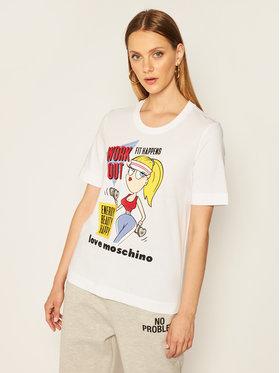 LOVE MOSCHINO LOVE MOSCHINO T-shirt W4F152MM 3876 Bianco Regular Fit