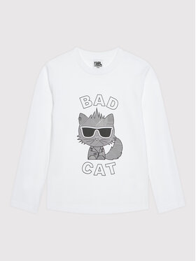 KARL LAGERFELD KARL LAGERFELD Блуза Z25315 D Бял Regular Fit