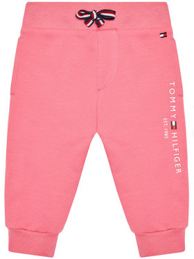 Tommy Hilfiger Tommy Hilfiger Spodnie dresowe Baby Essential KN0KN01281 Różowy Regular Fit
