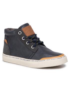 Pepe Jeans Pepe Jeans Sneakersy Traveler Bootie PBS30409 Tmavomodrá
