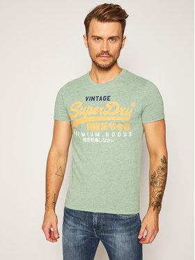 Superdry Superdry T-shirt Tri Tee M1010344A Verde Regular Fit