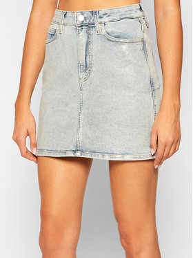 Calvin Klein Jeans Calvin Klein Jeans Farmer szoknya J20J214966 Kék Regular Fit