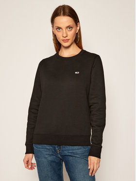 Tommy Jeans Tommy Jeans Pulóver Fleece DW0DW09227 Fekete Regular Fit