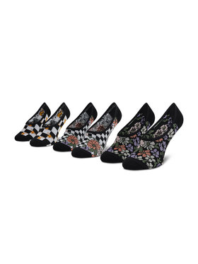 Vans Vans Set od 3 para ženskih niskih čarapa 3Pk Gar VN0A5I2L4481 Crna