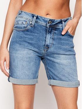 Pepe Jeans Pepe Jeans Džínsové šortky Poppy PL800493 Modrá Regular Fit