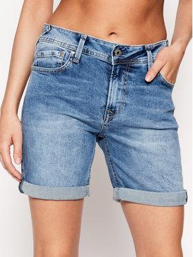 Pepe Jeans Pepe Jeans Szorty jeansowe Poppy PL800493 Niebieski Regular Fit
