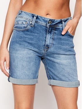 Pepe Jeans Pepe Jeans Τζιν σορτσάκια Poppy PL800493 Μπλε Regular Fit
