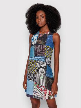Desigual Desigual Sukienka codzienna Alejandria 21WWVW67 Niebieski Regular Fit
