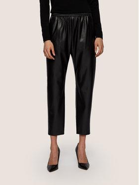 Boss Boss Kožené kalhoty Taledy 50436334 Černá Regular Fit