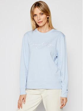 Tommy Hilfiger Tommy Hilfiger Sweatshirt Graphic C-Nk WW0WW30659 Bleu Regular Fit