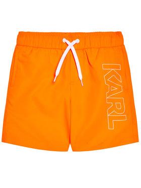 KARL LAGERFELD KARL LAGERFELD Szorty kąpielowe Z20055 D Pomarańczowy Regular Fit