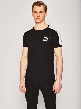 Puma Puma T-shirt Iconic T7 581558 Crna Slim Fit