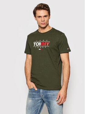 Tommy Jeans Tommy Jeans T-Shirt Tjm Essential Graphic DM0DM11600 Grün Regular Fit
