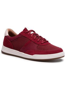 Clarks Clarks Sneakersy Bizby Lace 261596427 Bordowy