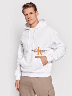 Calvin Klein Jeans Calvin Klein Jeans Majica dugih rukava Ck Urban Graphic Logo Hoo J30J318308 Bijela Regular Fit