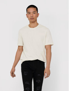 Only & Sons ONLY & SONS T-shirt Millenium 22018868 Bianco Regular Fit