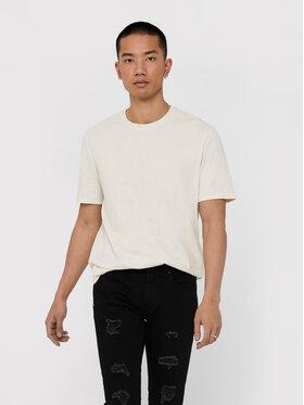 Only & Sons ONLY & SONS T-shirt Millenium 22018868 Bijela Regular Fit