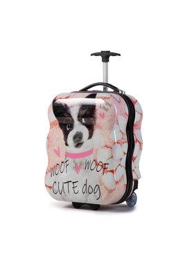 Semi Line Semi Line Kis kemény borítású bőrönd T5463-5 Rózsaszín