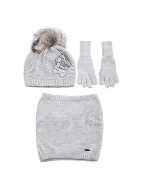 Mayoral Mayoral Комплект шапка, шал тип комин и ръкавици 10699 Сив