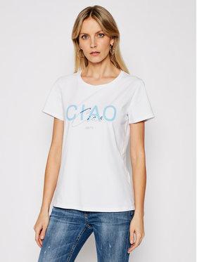 Liu Jo Sport Liu Jo Sport T-shirt TA1211 J5972 Bijela Regular Fit