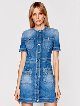Elisabetta Franchi Elisabetta Franchi Sukienka jeansowa AJ-20I-11E2-V650 Granatowy Slim Fit