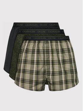 Calvin Klein Underwear Calvin Klein Underwear Sada 3 kusů boxerek 000NB3000A Zelená
