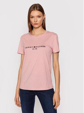 Tommy Hilfiger Tommy Hilfiger T-Shirt WW0WW28681 Różowy Regular Fit