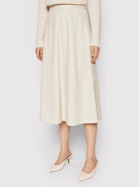 Marella Marella Suknja od imitacije kože Omelia 37760118 Bež Regular Fit