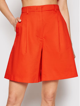 Max Mara Max Mara Short en tissu Visino 51410111 Orange Regular Fit