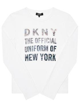 DKNY DKNY Blúz D35Q81 D Fehér Regular Fit