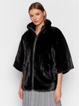 Geox Geox Кожено палто Kaula W1420G T2662 F9000 Черен Regular Fit