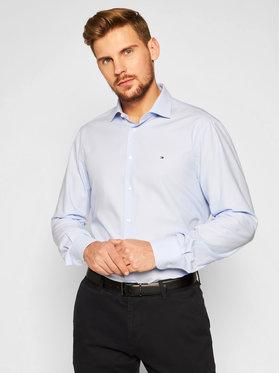 Tommy Hilfiger Tailored Tommy Hilfiger Tailored Koszula Dobby Design Classic TT0TT07588 Niebieski Slim Fit