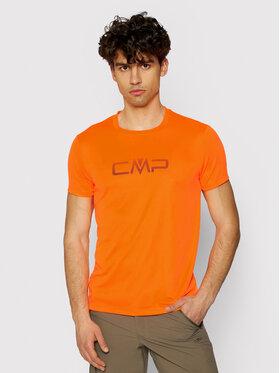 CMP CMP Тениска от техническо трико 39T7117P Оранжев Regular Fit