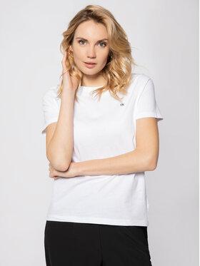Calvin Klein Calvin Klein Tricou Embroidered Tee K20K202021 Alb Regular Fit