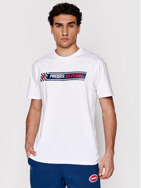 PROSTO. PROSTO. T-Shirt KLASYK Last Lap 1021 Bílá Regular Fit