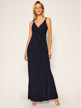 Lauren Ralph Lauren Lauren Ralph Lauren Vakarinė suknelė Long Gown 253792261003 Tamsiai mėlyna Regular Fit